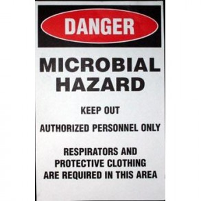 MICROBIAL HAZARD SIGN Image 1