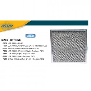 FILTERS FOR DRIEAZ DEHUMIDIFIERS Image 1